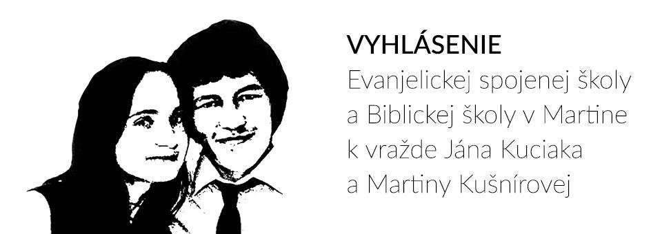 PETÍCIA – Vyhlásenie k vražde Jána Kuciaka a Martiny Kušnírovej